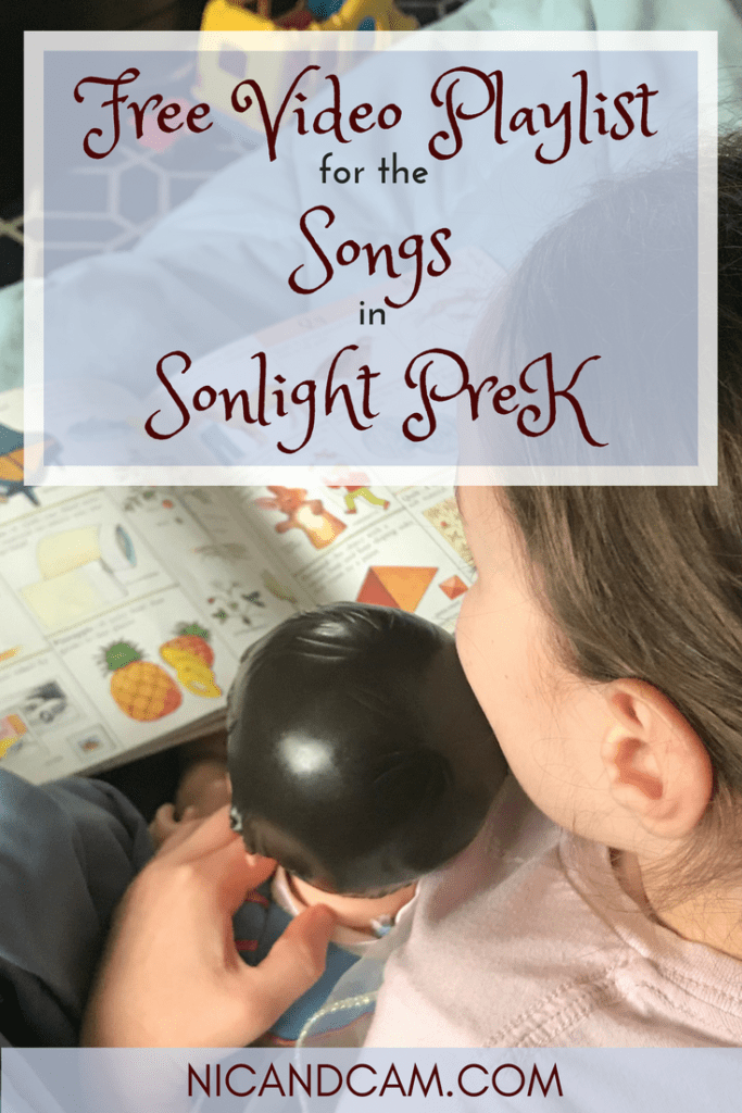 Free Video Playlist For The Songs In Sonlight Prek Niccam