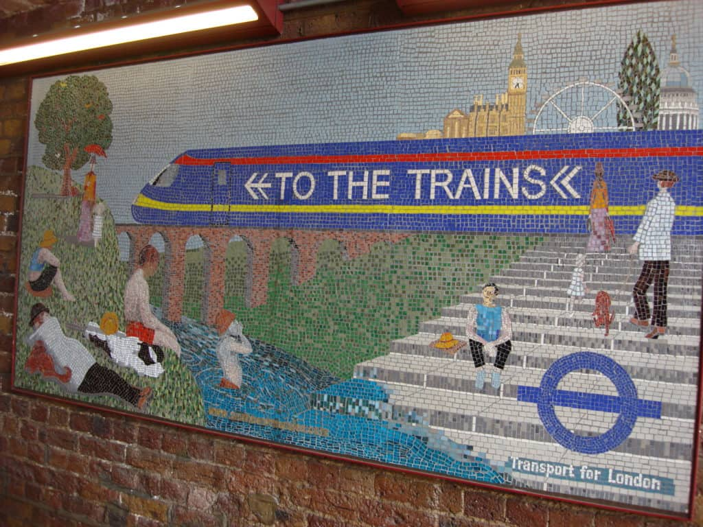 To the Trains Mosaic - London