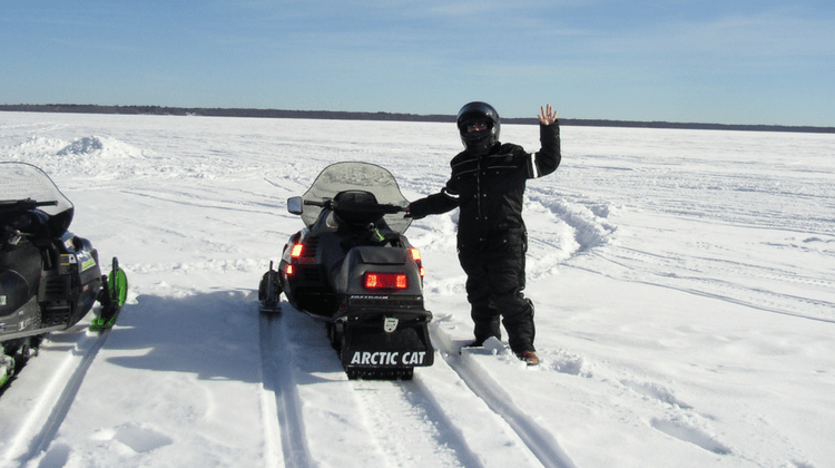 Featured Image - Snowmobiling on a Frozen Lake